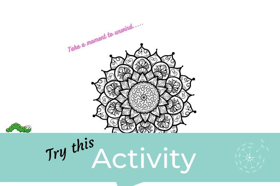 Children's Activity: Mandala Colouring Sheet